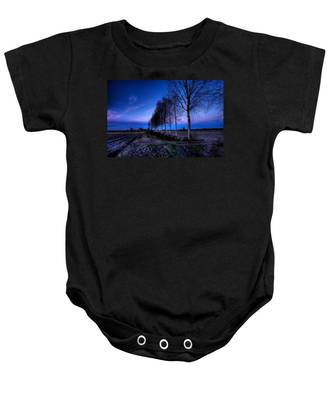 Twilight And Trees Baby Onesie