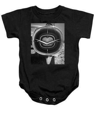 Vintage Tail Fin In Black And White Baby Onesie
