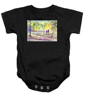 Walk Through The Woods Baby Onesie