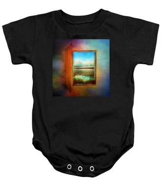 Window To Anywhere Baby Onesie