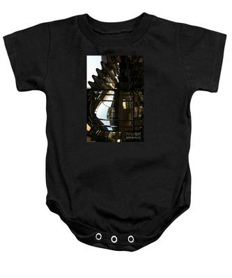 Within The Rings Of Lenses And Prisms - Water Color Baby Onesie