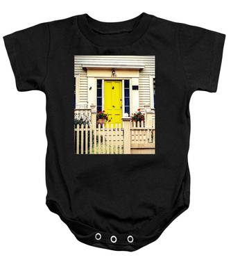 Yellow Door Baby Onesie
