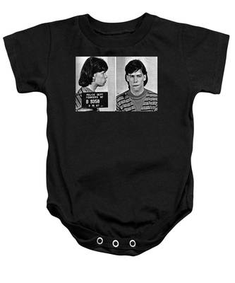 Young Steven Tyler Mug Shot 1963 Pencil Photograph Black And White Baby Onesie