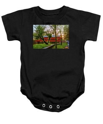 Covered Through Tree Baby Onesie