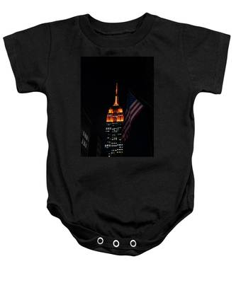 Empire State Building American Flag Baby Onesie