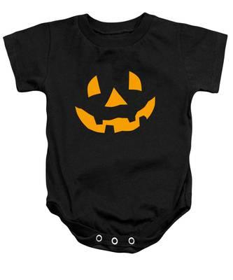 Halloween Pumpkin Tee Shirt Baby Onesie