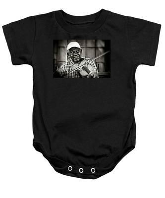 New York Street Fiddler Baby Onesie