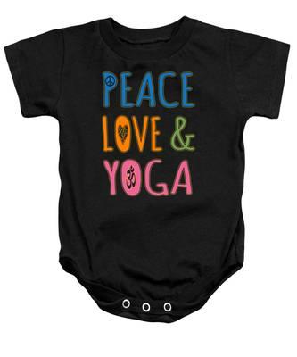 Peace Love Yoga Baby Onesie