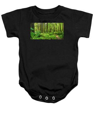 Stroll Among The Trees Baby Onesie