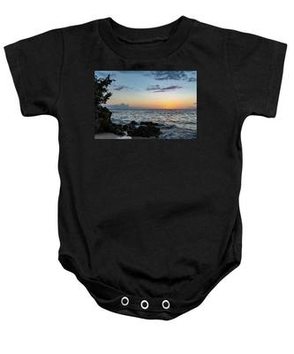 Sunset Afterglow In Negril Jamaica Baby Onesie