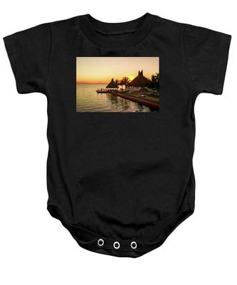 Sunset In Cancun Baby Onesie