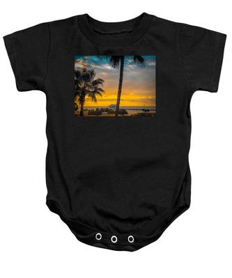 Sunset On The Island Baby Onesie