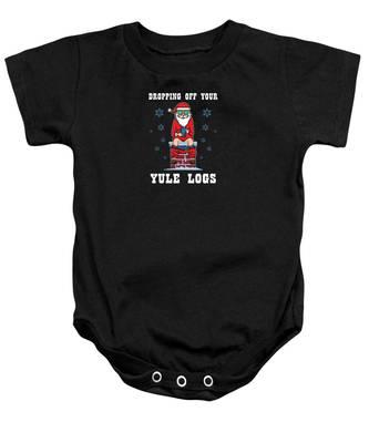 Yule Log Baby Onesies