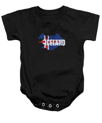 Baby Short-Sleeve Onesies Love Iceland Flag Bodysuit Baby Outfits