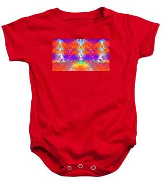 Baby Onesie featuring the digital art Cosmic Spiral Ascension 53 by Derek Gedney