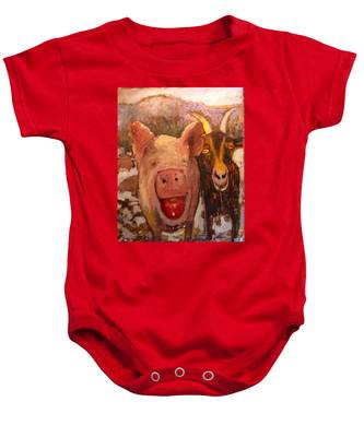 Pig And Goat Baby Onesie