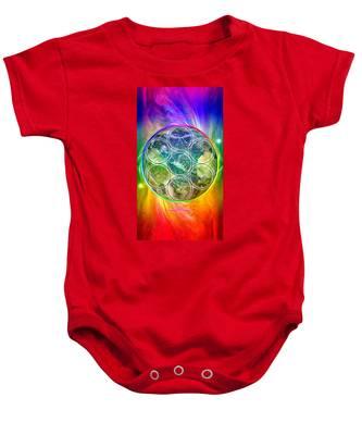 Tetra64 Polarity Earth Baby Onesie by Derek Gedney