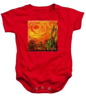 The Sun At The End Of The World Baby Onesie