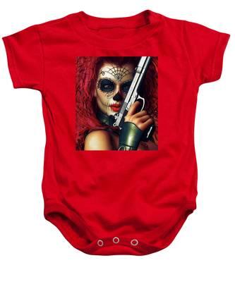 Sugar Doll Long Night Of The Dead Baby Onesie
