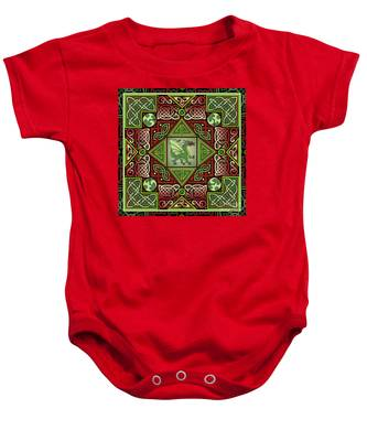 Celtic Dragon Labyrinth Baby Onesie