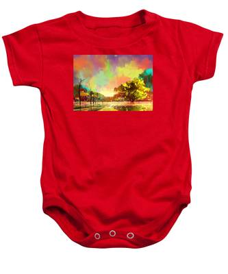 Colorful Natural Baby Onesie