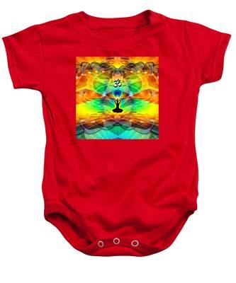 Cosmic Spiral 69 Painted Baby Onesie by Derek Gedney