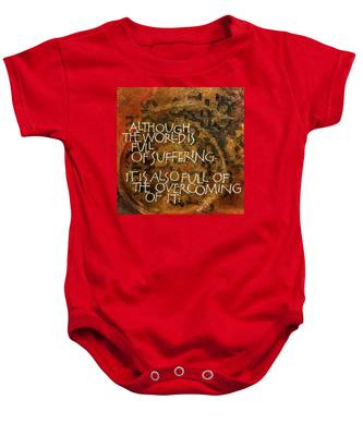 Inspirational Saying Overcome Baby Onesie