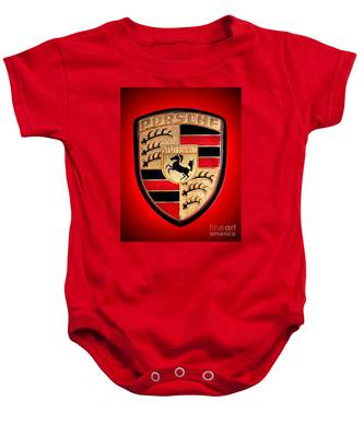 Old Porsche Badge Baby Onesie