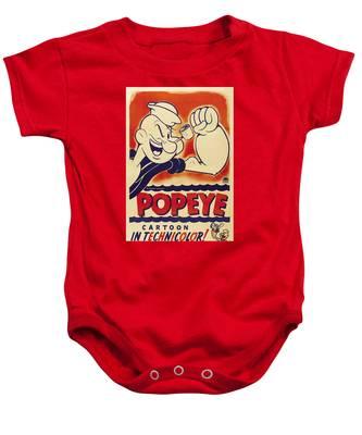 Popeye Technicolor Baby Onesie
