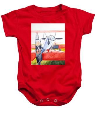 Reflection On Biplane Baby Onesie