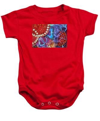 Ruby Slippers 7 Baby Onesie