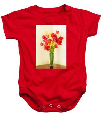 Tulip Bouquet Baby Onesie