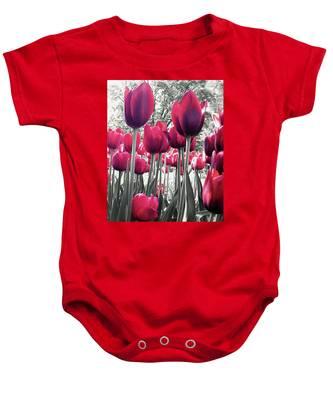 Tulips Tinted Baby Onesie