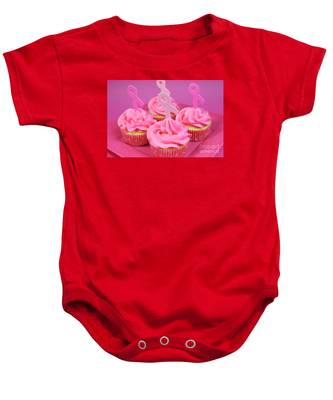 American Flag Breast Cancer Infant Bodysuit Pink Ribbon