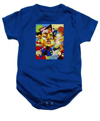 Cartoon Painting With Hidden Pictures Baby Onesie