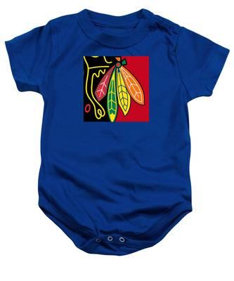 Chicago Blackhawks 2 Baby Onesie