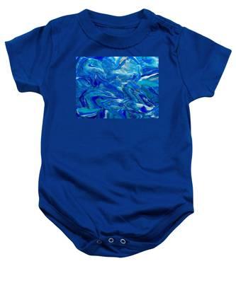Icy Blue Baby Onesie