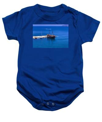 Old Sailing Ship In Bali Baby Onesie
