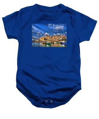 the old Jaffa port Baby Onesie