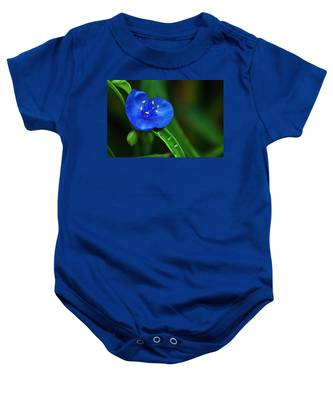 Yellow Blue And Raindrops Baby Onesie