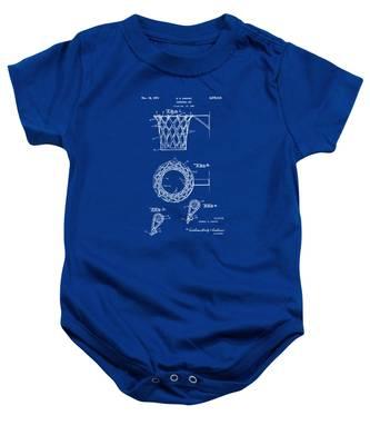1951 Basketball Net Patent Artwork - Blueprint Baby Onesie
