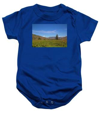 Baby Onesie featuring the photograph Idaho Landscape by Dart Humeston