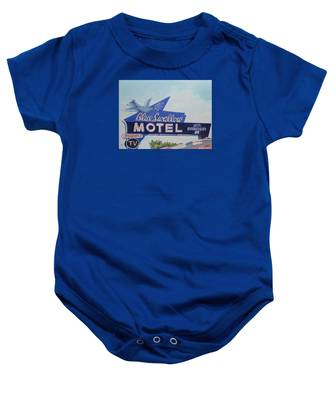 Blue Swallow Baby Onesie