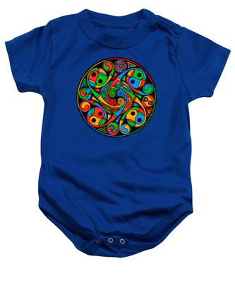 Celtic Stained Glass Spiral Baby Onesie
