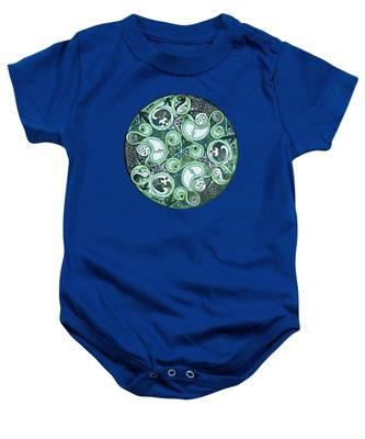 Celtic Stormy Sea Mandala Baby Onesie