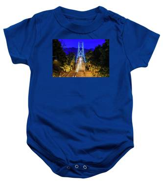 Lions Gate Bridge At Night Baby Onesie