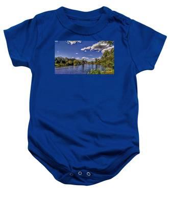 Pond At Verona Park Baby Onesie