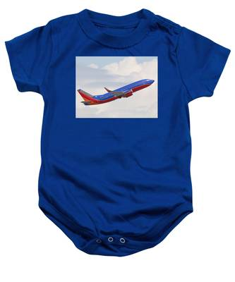 Baby Onesie featuring the photograph Southwest Jet by Dart and Suze Humeston
