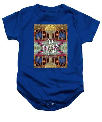 The Throne Room Fontainebleau Chateau Gorgeous Royal Interior Baby Onesie