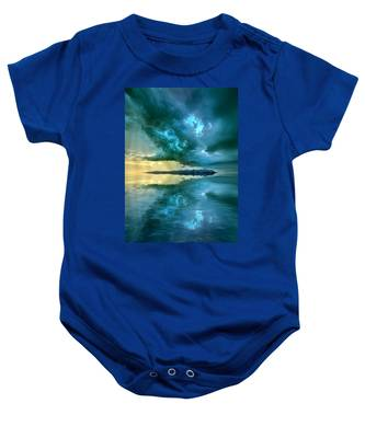 Where The Clock Stops Spinning Baby Onesie